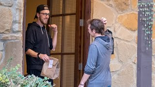Convincing Our Uber Eats Driver To Eat Dinner With Us Mp3