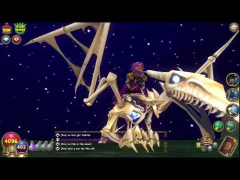 Wizard101 bone dragon mount!