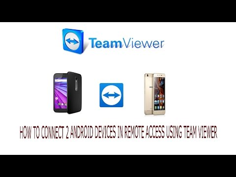 HOW TO CONNECT 2 ANDROID DEVICES IN REMOTE ACCESS USING TEAM VIEWER