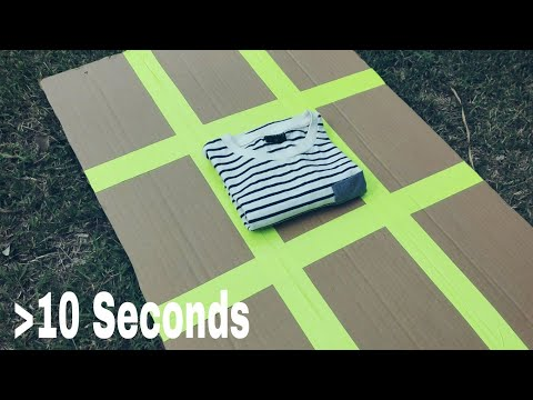 How to Fold Shirts in under 10 Seconds. ( diy Shirt Folding Machine)