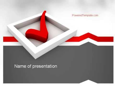 Red Check Mark PowerPoint Template