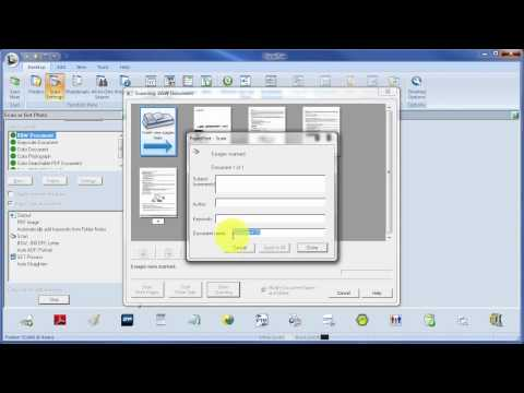 How to use PaperPort Demo Manage Folders & Scan Double Sided Documents ADF & Straighten