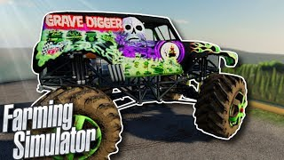 CRAZY MONSTER TRUCK RACE! - Farming Simulator 19 Multiplayer Gameplay