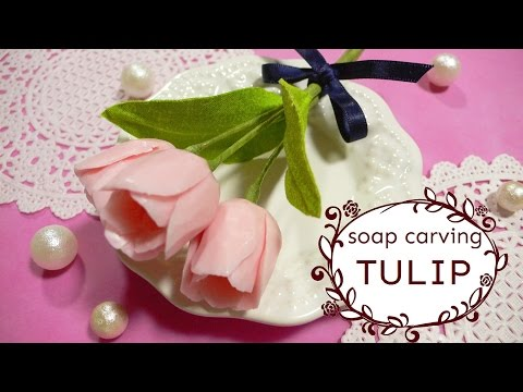 SOAP CARVING | Tulip Flower Arrangement | How to make |