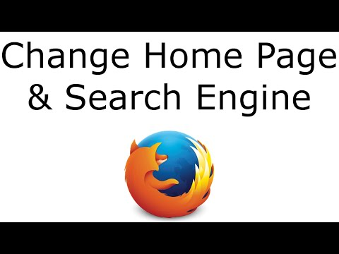 Firefox - Change Home Page/Default Search Engine
