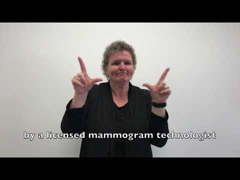 Breast Health and Mammography Talk for Deaf and Hard of Hearing