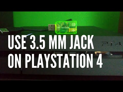 How to use headphones or microphone with 3.5mm jack plug on PS4