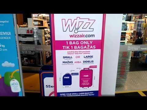 Wizzair cabin baggage measuring cage