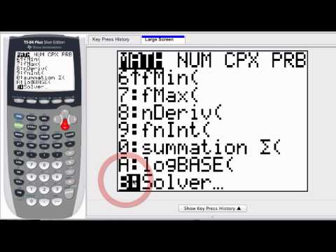 Graphing Calculator - Solve for x