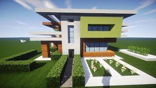 Minecraft Modernes Haus Akazie Weiss Grau Bauen Tutorial Anleitung
