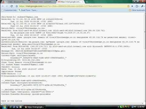 Trace ip address using e-mail