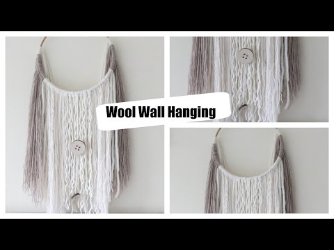 DIY| How to make a wool wall hanging