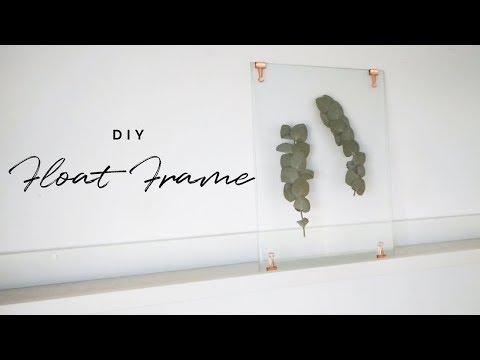DIY WALL ART | Pressed Leaf Floating Frame