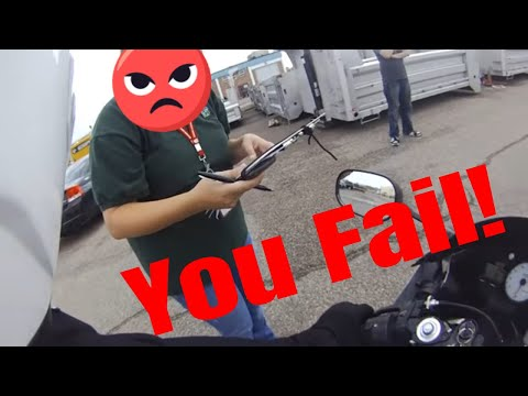 How to FAIL a DMV motorcycle skills test POV