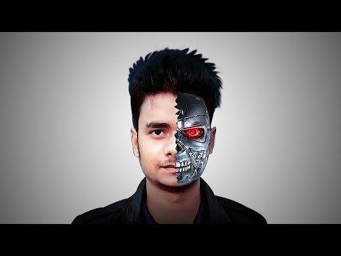How to make Robot face effect Photo Manipulation | Photoshop Tutorials.