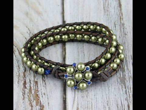 How to make a Leather and Pearl Wrap Bracelet Project