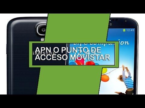 Samsung Galaxy S4 Como Configurar APN Internet Movistar Colombia  O puntos de acceso