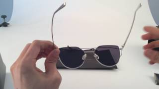 a5ff96a3c97 Gentle Monster Sunglasses BLACK PETER RD1 Clear Red Wine Open Box ...