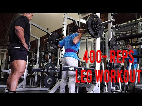 400 REP LEG WORKOUT- HE LOST 70 LBS
