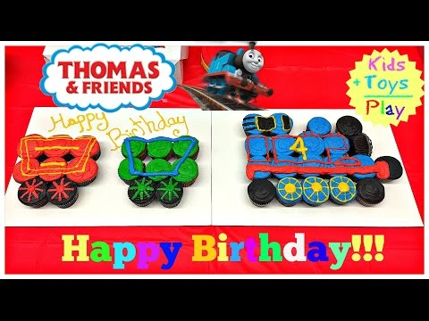 Thomas and Friends Birthday Party & Opening Presents!   Kids Toys Play   Playing with Trains