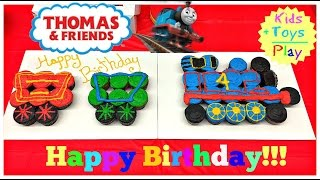 Thomas and Friends Birthday Party & Opening Presents! | Kids Toys Play | Playing with Trains