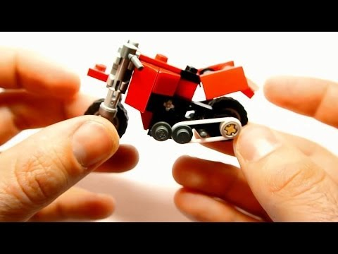 How to Build Dual-sport Motorcycle (Small Lego Toy)