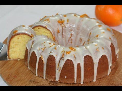 Gâteau à l'Orange - Orange Bundt Cake - كيكة خفيفة لذيذة بالبرتقال