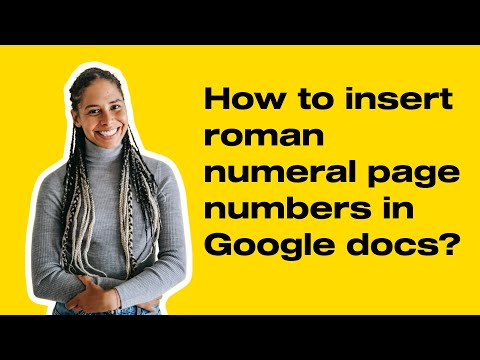 How to insert roman numeral page numbers in Google docs?