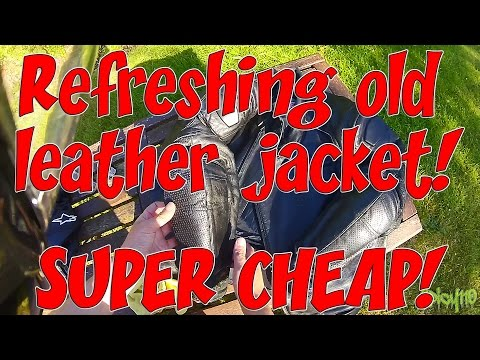 Refreshing old leather jacket! SUPER CHEAP!
