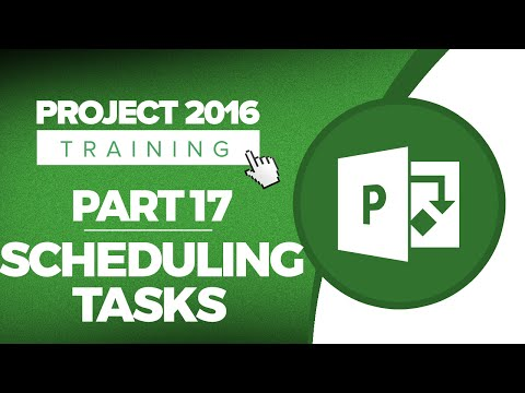Project 2016 for Beginners Part 17: How to Schedule Tasks in Microsoft Project 2016