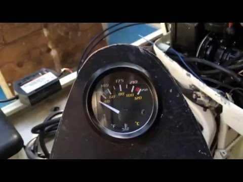 How to install a Temperature Sensor & Gauge on Outboard Motor