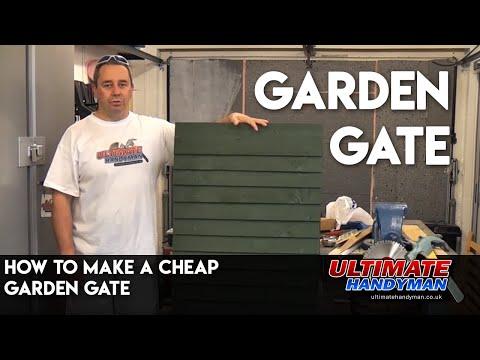 How to make a cheap garden gate