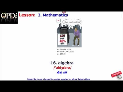 Oxford dictionary - 3. Mathematics - learn English vocabulary with picture