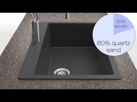 Houzer Quartztone Granite Series Kitchen Sinks at KitchenSource.com