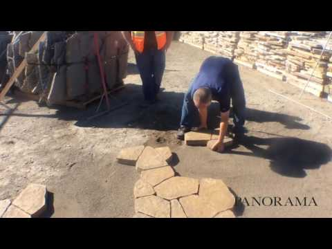 How to install PANORAMA Flag Pavers with Willamette Graystone