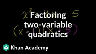 Example 5 Factoring Quadratics With Two Variables Leading Coefficient
