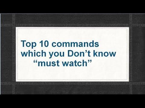 Top 10 commands in windows 7/8/8.1/10