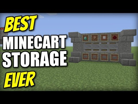 Minecraft Xbox - MINECART STORAGE [ Best Ever ] Redstone Tutorial - PS4 / PE / PS3 / Switch