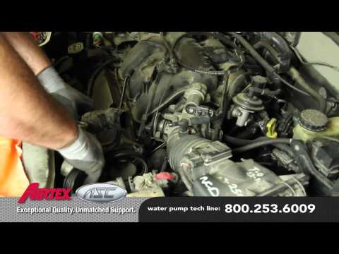 How to Install a Water Pump - Ford 3.0L V6 WP-9035 AW4091