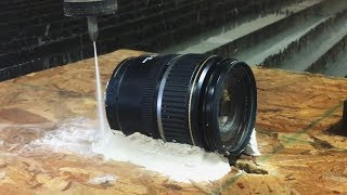 Download Canon Camera Lens Cut In Half With A 60,000 PSI Waterjet Video