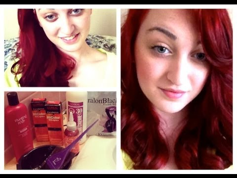 How To Dye Dark Hair Red Without Bleach! -SparklingBeauty17
