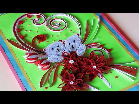 ☑️Paper Quilling ⏭How to make 💕valentine's day greeting cards | Paper Quilling Art
