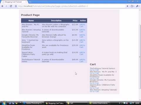 PHP & MySQL - Shopping Cart - Part 10 Update