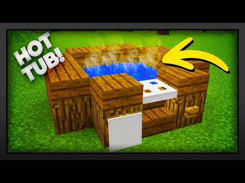 Minecraft - How To Make A Hot Tub