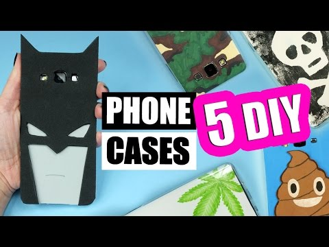5 DIY PHONE CASES for BOYS! Easy phone cases tutorial