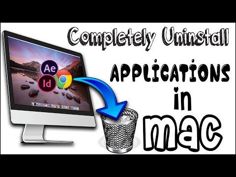 How To Permanently Delete application in Mac Computers !
