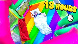 I Spent 24 Hours in a BOUNCE HOUSE! - Challenge