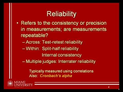 03: Reliability and validity (1/3)