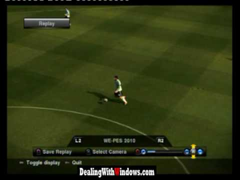 Julio Cesar stuipid mistake during a match in PES2010 PS3