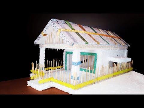 How to make thermocol mini House...$$$$$